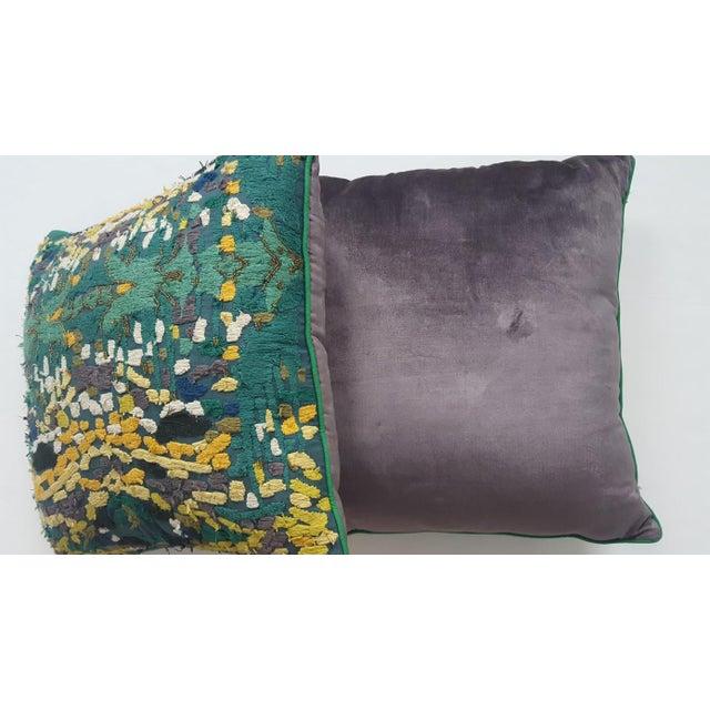 Velvet Beaded Throw Pillows - A Pair - Image 6 of 7