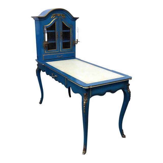 Louis XV Style Leather Top Cartonnier Desk For Sale