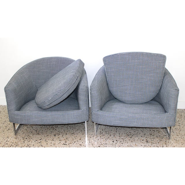 Mid-Century Modern Mid-Century Modern Milo Baughman for Thayer Coggin Chairs - a Pair For Sale - Image 3 of 13
