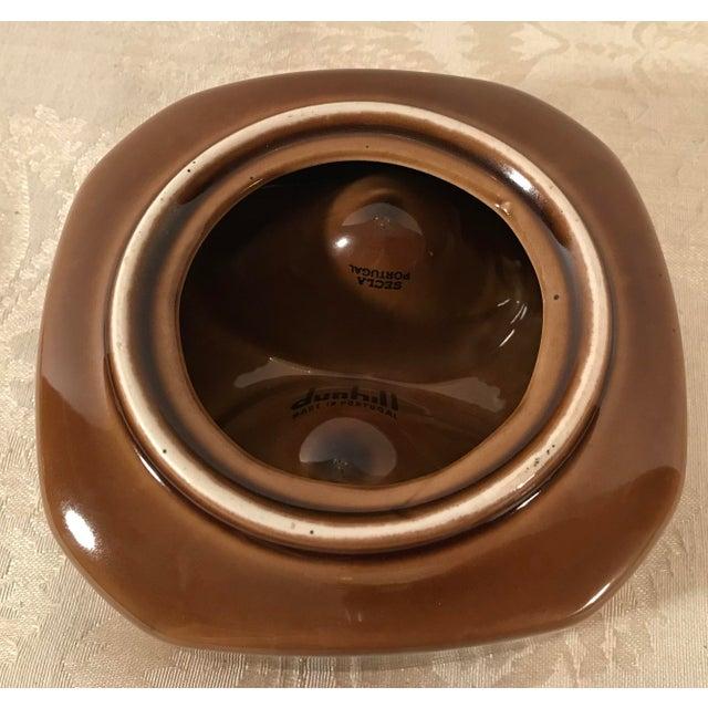 Mid Century Vintage Brown Ceramic Egg Holder For Sale - Image 9 of 10