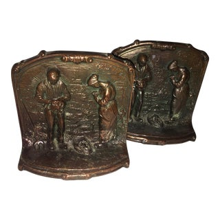 Classical Farmers at Pray Bronze Bookends by Millet