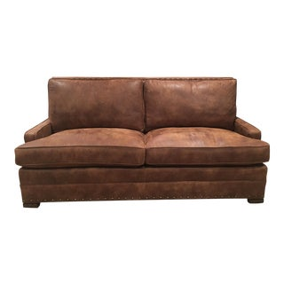 Vanguard Riverside Leather Sofa For Sale