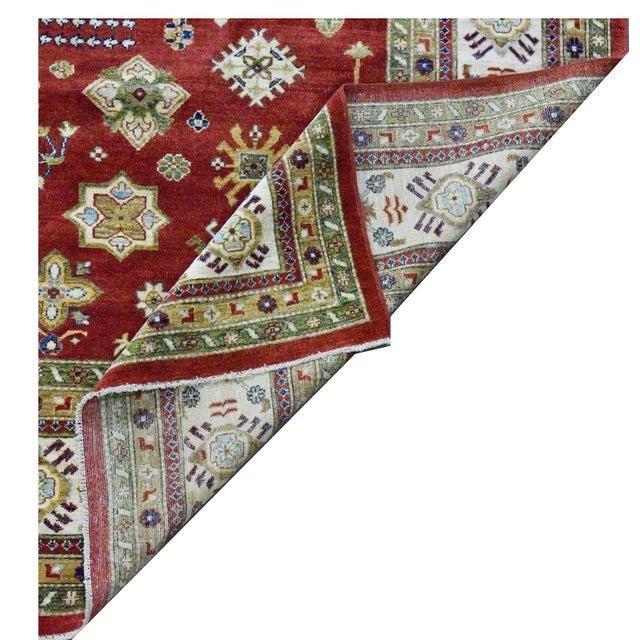 Afghan Vintage Afghan Super Kazak Rug- 8'11''x11'8'' For Sale - Image 3 of 4