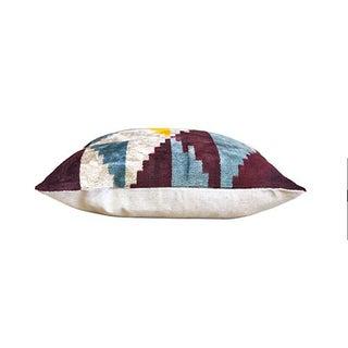 Kim Salmela Multi Geometric Turkish Silk Velvet Ikat Throw Pillow Preview