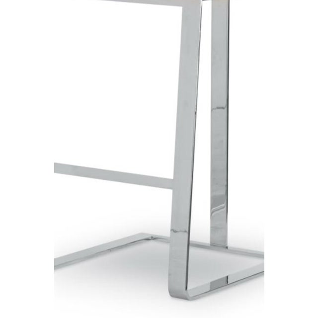 Contemporary Century Furniture Stainless Steel Bar Stools - Set of 4 For Sale In Charlotte - Image 6 of 10