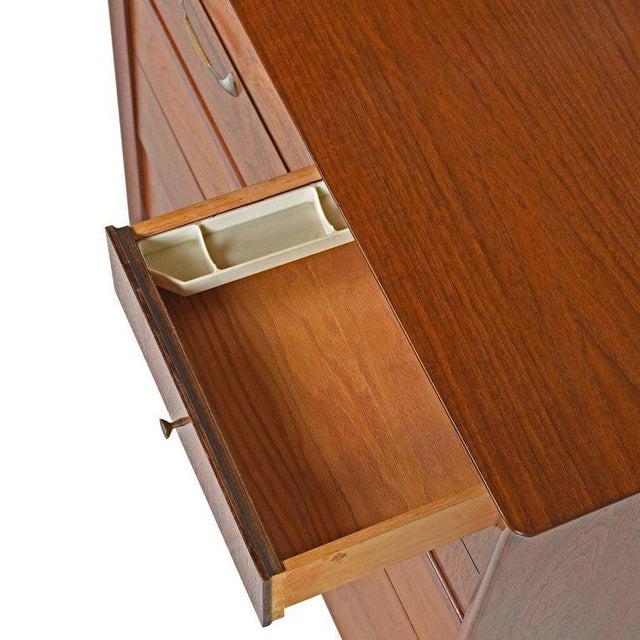 Drexel Mid-Century Modern Drexel High Boy Dresser Restored For Sale - Image 4 of 7
