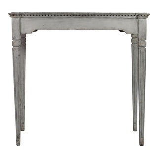 Antique Gustavian Gray Wooden Writing Desk For Sale