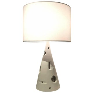 Jacques Lignier Glazed Ceramic Table Lamp For Sale