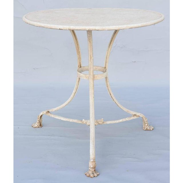 French 19th Century Painted Gueridon-Form Cafe Table For Sale In West Palm - Image 6 of 9