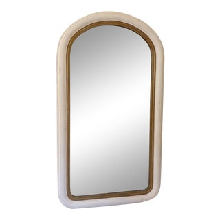 19th Century Curved Top Gessoed Mirror For Sale