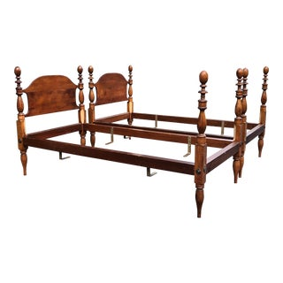 Vintage Antique Cherry Twin Beds- a Pair For Sale