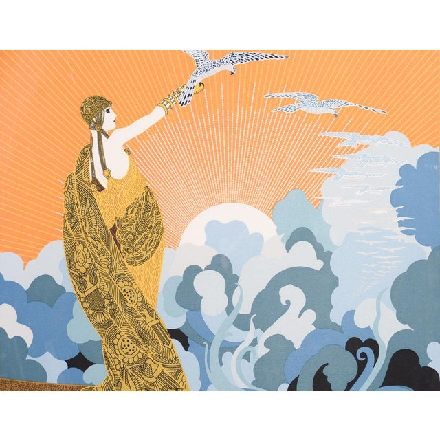 Art Deco Erte Art Deco Serigraph-Wing of Victory For Sale - Image 3 of 11