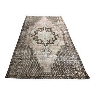 1960s Turkish Geometric Faded Floor Rug For Sale