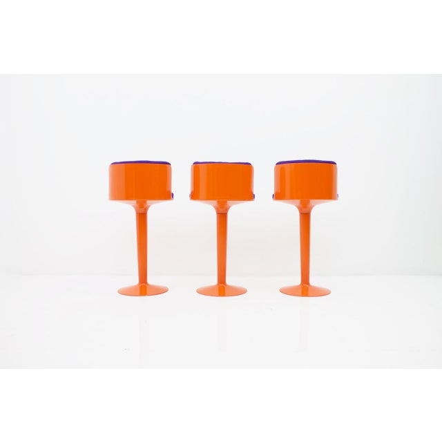 Fabric Fiberglass Bar Set by Wolfgang Feierbach, Germany 1974 For Sale - Image 7 of 10