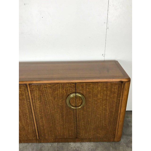 Midcentury Mahogany and Brass Credenza by Micheal Taylor for Baker For Sale - Image 9 of 13