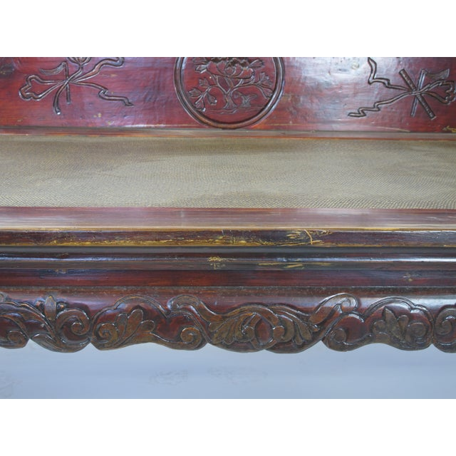 Brown 1900s Antique Chinese Daybed For Sale - Image 8 of 13