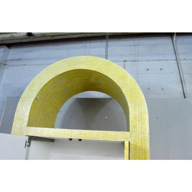 Metal Postmodern Pat Lippy Ovoid Rounded Bar or Tv Cabinet For Sale - Image 7 of 8