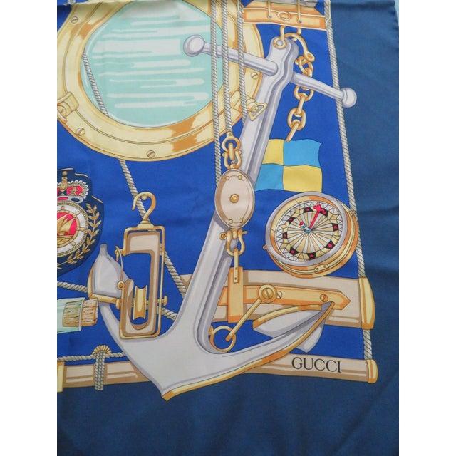 Vintage Gucci Nautical Silk Scarf For Sale In San Antonio - Image 6 of 13