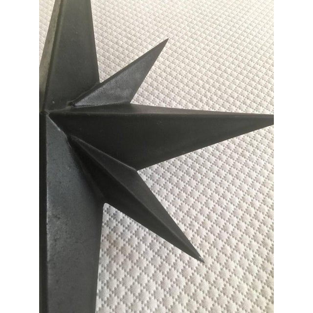 Awesome Pair of Wrought Iron Star Sconces Attributed to Tom Dixon First Period For Sale - Image 6 of 7
