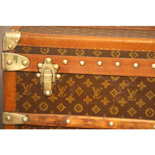 1920s Louis Vuitton Cabin Steamer Trunk For Sale - Image 11 of 13