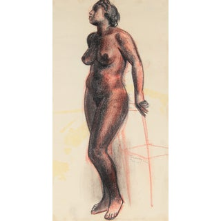 C.F. Seavey Standing Figure Drawing C. 1920s For Sale