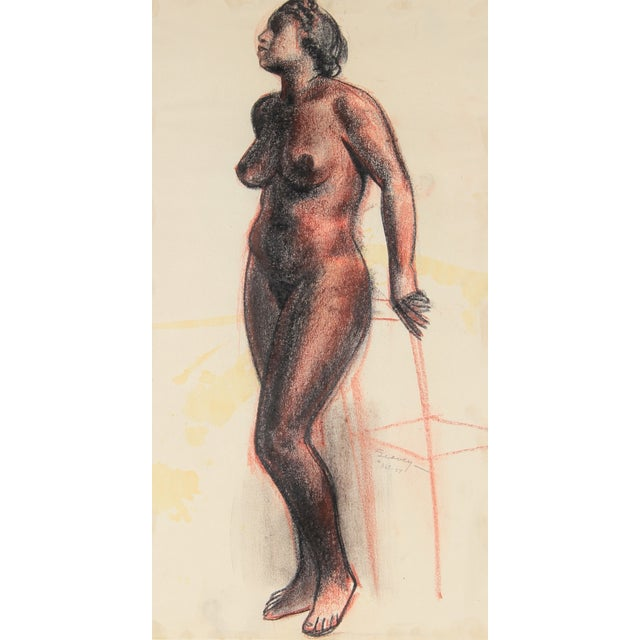 C.F. Seavey Standing Figure Drawing C. 1920s - Image 1 of 2
