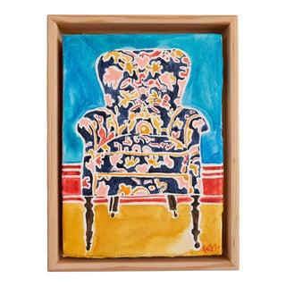 Kate Lewis Navy Chair Original Painting