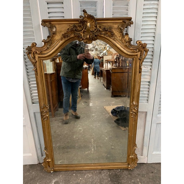 18th Century Grand Napoleon III Wall Mirror For Sale - Image 11 of 11