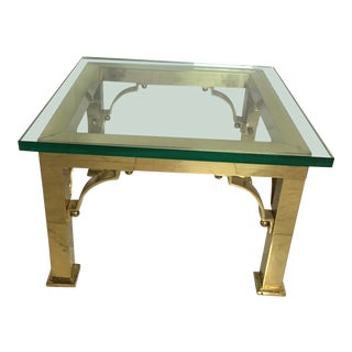 1970s Asian Inspired Brass Side Table For Sale