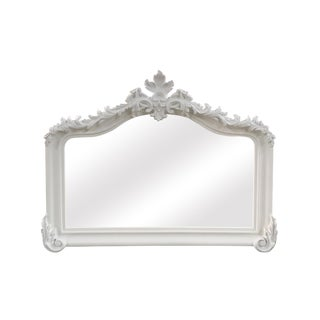 Blenheim White Crown Arched Mantle Mirror For Sale