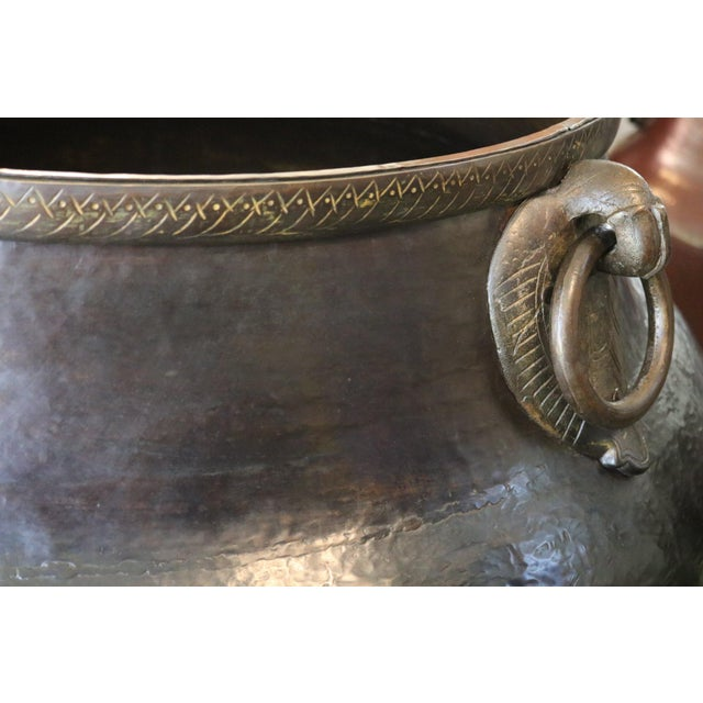 Asian Brass Bird Handle Water Pot For Sale - Image 3 of 5