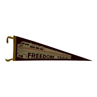 "20th Century Americana ""Spirit of 1776"" Sign by Freedom Train Pennant For Sale"