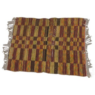 Swedish Hand Woven Rag Rug - 2′6″ × 3′4″ For Sale