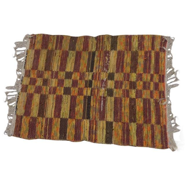 Swedish Hand Woven Rag Rug - 2′6″ × 3′4″ For Sale