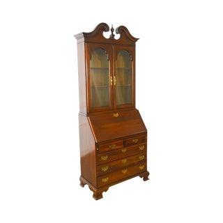 Ethan Allen Georgian Court Collection Chippendale Style Secretary Desk