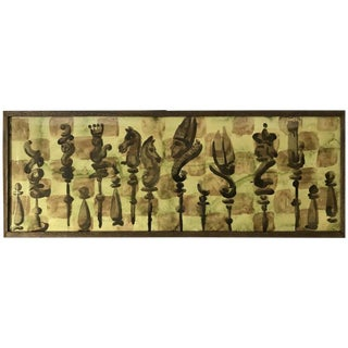 Chess Set Watercolor #3 by Zev Daniel Harris For Sale
