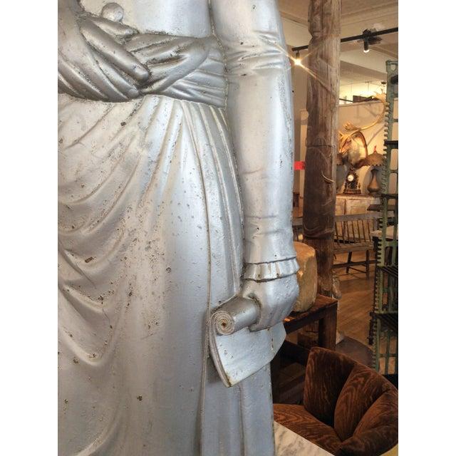 Silver George Washington 1870's Cast Iron Stove Figure For Sale - Image 8 of 12