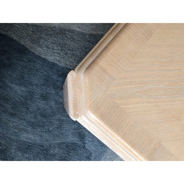 1980s Modern Tiered White-Washed Solid Wood Coffee Table For Sale - Image 9 of 10