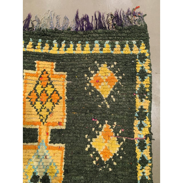 """Vintage Moroccan Rug, 3'10"""" X 7'5"""" For Sale - Image 4 of 10"""