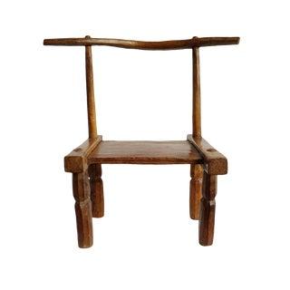 Vintage Senufo Wood Chair For Sale