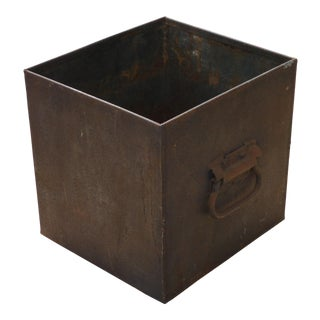 Industrial Iron Cachepot For Sale
