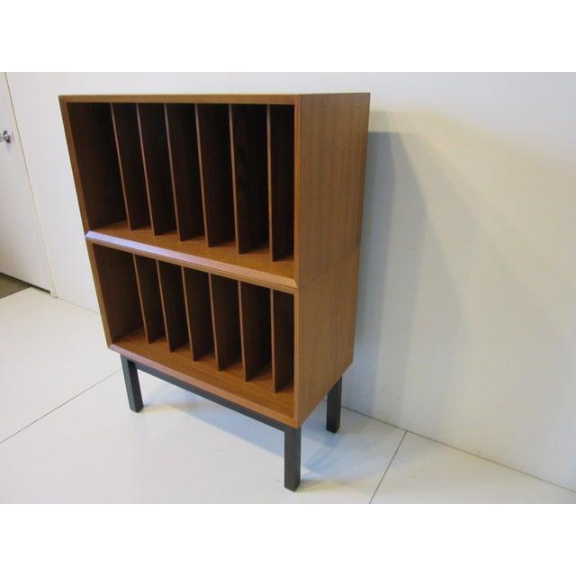 Mid-Century Modern Danish Cado Teak Record Cabinet For Sale - Image 3 of 10