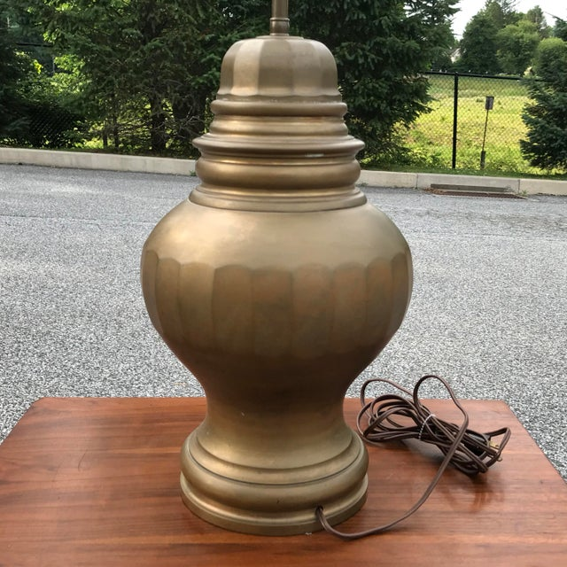 Vintage Chapman Solid Brass Ginger Jar Urn Lamp With