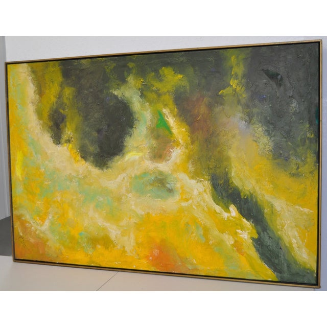 Vintage Abstract Oil Painting C.1969 - Image 3 of 6