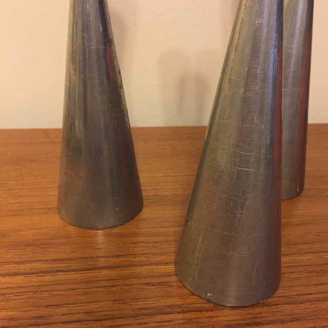 Danish Modern Danish Modern Style Metal Candle Stick Holders - Set of 3 For Sale - Image 3 of 7
