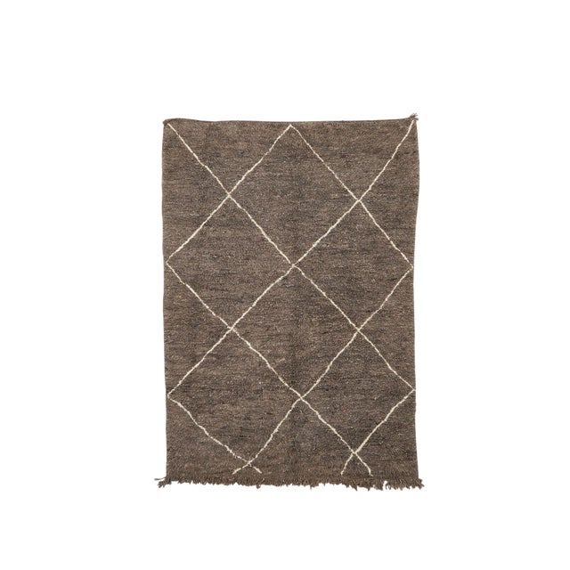 Beni Ourain Handwoven Rug - 6′3″ × 9′ For Sale