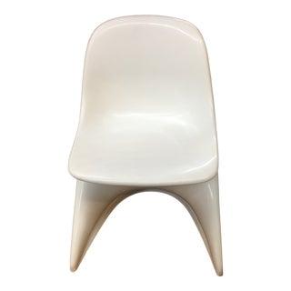 1980s Vintage Casalino White Plastic Children's Chair For Sale