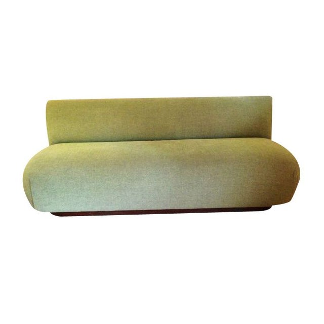 Modern Custom Made Green Couch For Sale - Image 4 of 4