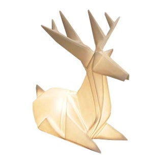 Luminous Origami Reindeer Lamps - Pair For Sale