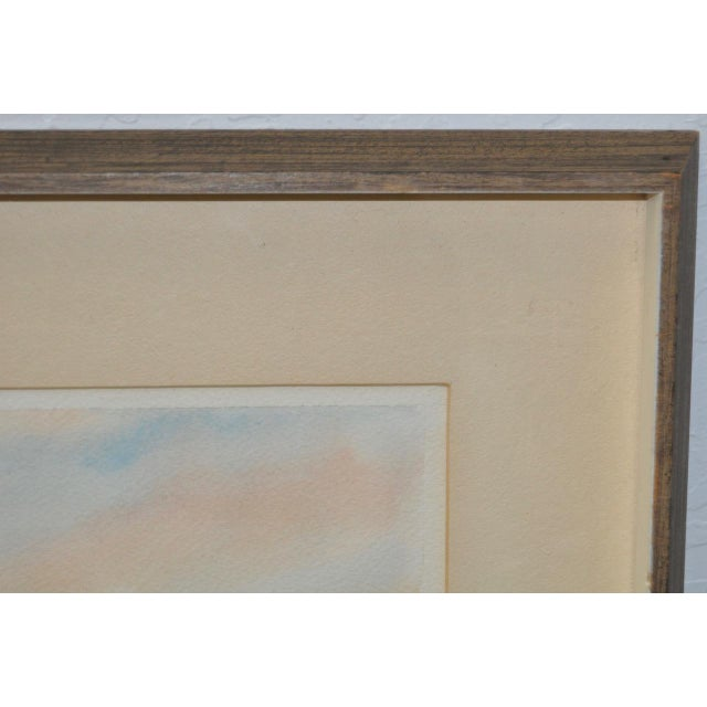 "John B. Munroe ""Desert Tranquility"" Watercolor c.1960s For Sale - Image 5 of 9"